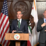 L.A. Mayor Garcetti receives his first dose of the COVID vaccine, aide says