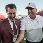 Mike Bohn explains why USC chose to keep coach Clay Helton